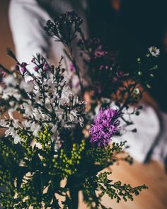 Wild flowers make an easy and perfect table decoration.