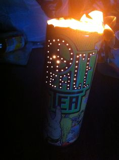 Peace tea can lantern. DIY project 1.