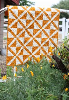 """Abby"" (from Temecula Quilt Co.) Using only two colors can eliminate fussing over fabrics, and be striking at the same time!"