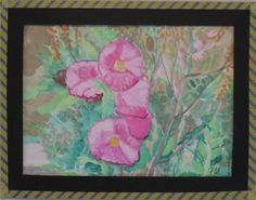 Pink Hibiscus - water colors.