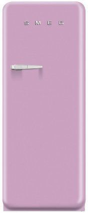 Smeg Retro Style Top-Freezer Refrigerator with Cu. Capacity Ice Compartment Interior Light Adjustable Glass Shelves and Bottle Storage in Pink: Right Compact Refrigerator, Top Freezer Refrigerator, Online Kitchen Store, Kitchen Refrigerators, Appliances, Glass Shelves, Interior Lighting, Retro Style, Style Icons