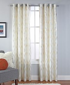 Another great find on #zulily! Ivory Stanton Curtain Panel by belle maison #zulilyfinds
