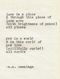 love in ee cummings poem anyone lived in a pretty how town Transcript of anyone lived in a pretty how town by: ee cummings (october 14, 1894 – september 3, 1962) he began writing poems as early as 1904 and studied latin and greek at the cambridge latin high school.