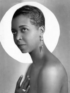 Ethel Waters was a blues, jazz, gospel vocalist and actress. Married at the age of 13. She was the first black woman in an otherwise white Broadway show. She was the second African American nominated for an Oscar and later in life toured with Billy Graham on his crusades. via| Tumblr