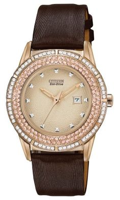Citizen Women's FE1113-03A Drive From Citizen Eco-Drive TTG Analog Display Japanese Quartz Brown Watch -- See this great product.