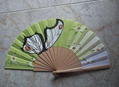 mariposa #art #pintadoamano #abanicos #valian #valianart