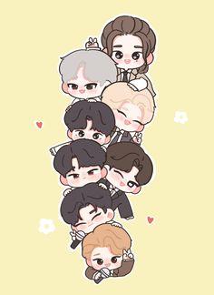 Chibi Wallpaper, Kids Wallpaper, Stray Kids Seungmin, Felix Stray Kids, Bts Chibi, Cute Cartoon Wallpapers, Animes Wallpapers, Fanart Kpop, Kids Fans