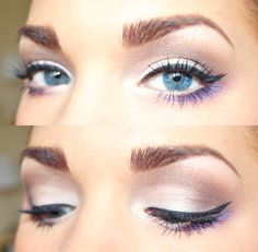 Linda Hallberg - makeup artist - March 09 2019 at Cool Makeup, Pretty Makeup, Makeup Tips, Makeup Looks, Cheap Makeup, All Things Beauty, Beauty Make Up, Hair Beauty, Purple Eyeliner