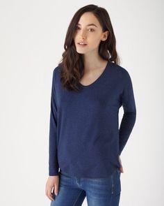 slub-jersey-slouchy-v-neck-t-shirt jigsaw
