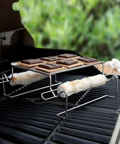 S'mores Grilling Set...  Why not, right?  When ya gotta feed a bunch at the same time! #camping #cooking #outdoors