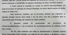 Decisão de juiz do Piauí manda tirar WhatsApp do ar em todo o Brasil