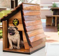 Wooden Dog Crate, Wooden Dog House, Custom Dog Houses, Cool Dog Houses, Dog House Plans, Pet Organization, Dog Area, Dog Furniture, Outdoor Dog