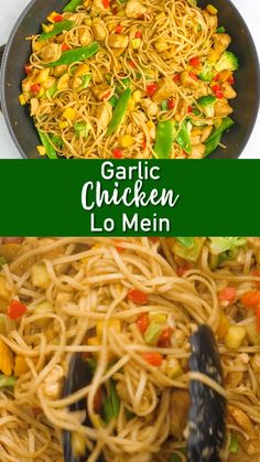 Better than take-out, and just as easy! This garlic chicken lo mein is simple, flavorful, and can be a great way to use up leftovers.
