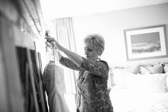 Hotel Albuquerque Wedding Photography mother of the bride getting the dress