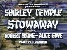 Shirley Temple Stowaway part 1