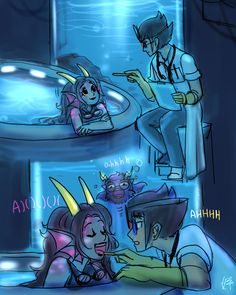 I think this the Aquariumstuck AU: credit to the artist