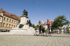 Marktplatz und Rückertdenkmal - http://www.schweinfurt360.de/  #visitfranconia #14cities