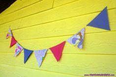 Banderines de las Princesas. myvioletdesigns.com