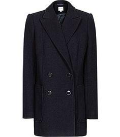 f6d6442cd78c London Navy Double-breasted Coat - REISS Navy Wool Coat