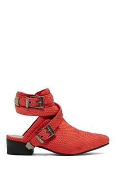 Shoe Cult Talon Leather Cutout Bootie