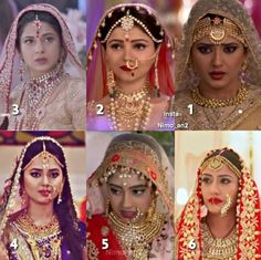 Indian Tv serial brides .....dress like Maharani