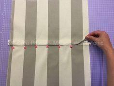 come cucire un cuscino con cerniera nascosta - sara poiese Sewing Tools, Sewing Hacks, Sewing Tutorials, Sewing Crafts, Sewing Projects, Love Sewing, Baby Sewing, Sew Baby, Pillow Tutorial