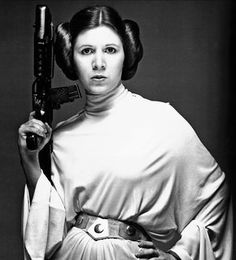 Carrie Fisher as Princess Leia Organa in 1977's Star Wars: Episode IV – A New Hope