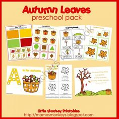 Autumn Leaves Fall Unit Study for K-3rd | Fall and Thanksgiving ...