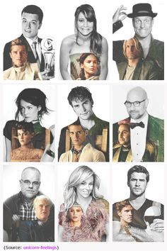 Peeta, Katniss, Haymitch, Johanna, Finnick!!!!, Caesar, Plutarch, Effie, Gale....