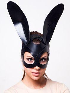 Bunny Leather Mask