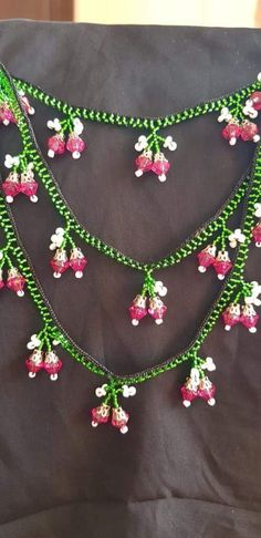 Crochet Necklace, Beaded Necklace, Hand Embroidery Videos, Ornaments, Bridal, Beads, Pattern, Jewelry, Design