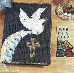 plastic canvas patterns   Dove Cross Bible Cover in Plastic Canvas Pattern Instructions   eBay