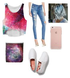 """Galaxy??"" by gggil ❤ liked on Polyvore featuring 7 For All Mankind and Keds"