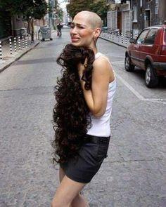 #longhairshave #baldqueens #baldgirlsrock #longhair