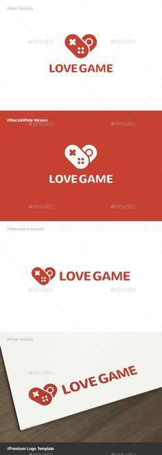 Love Game Logo Template Vector EPS, AI Illustrator. Download here: https://graphicriver.net/item/love-game-logo/17574845?ref=ksioks