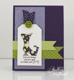 Grab Your Broom Stampin' Up! Card.  Love the layout on this one.