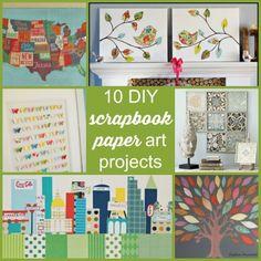 10 diy scrapbook paper art projects