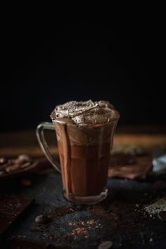 Melted Hot Chocolate With Sea Salt Whipped Cream — Adventures in Cooking