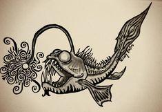 Angler Fish Zentangle OC - Imgur