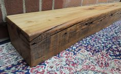 "Barn Beam Fireplace Mantel or Mantle Shelf 61"" x 6"" x 4"" ,Floating Shelf, Rustic Mantle Shelf, Barnwood Shelf, Rustic Decor by RusticbiltDecor on Etsy"