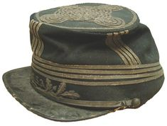 "Confederate General ""Prince"" John Magruder's French-made kepi. While Magruder commanded the District of Texas, he is thought to have obtained this kepi, specially made for him in France, and imported through the blockade. Image courtesy of the Museum of the Confederacy."