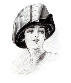 Vintage Clip Art – Ladies Hats