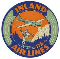 Artist Unknown poster: Inland Air Lines (Luggage Label)
