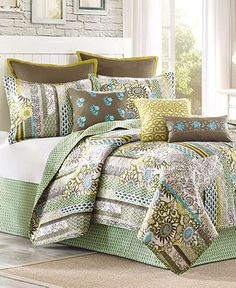 $160 Echo Bedding, Boho Chic Coverlets - Bedding Collections - Bed & Bath - Macy's
