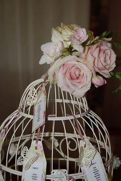 Vintage Birdcage Table Decoration