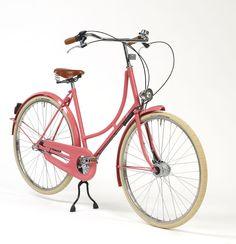 Zalm roze fiets