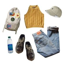 """""""Reality (Self Portrait)"""" by jupiter-geese ❤ liked on Polyvore featuring Versace, Levi's, Ralph Lauren and Dr. Martens"""