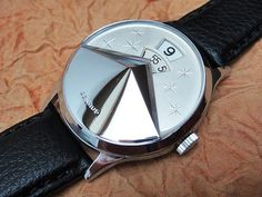 Benrus Dial-O-Rama Chevron 1957 vintage jump hour watch