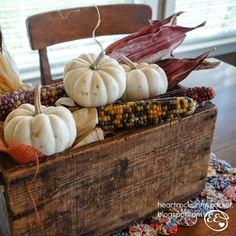 Heart Rocks in my Pocket: Combining Fall & Vintage Decorations