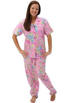 Del Rossa Women's 100% Cotton Short Sleeve Pajama Set with Pj Pants, Small Pink and Blue Floral (A0518P07SM) Alexander Del Rossa http://www.amazon.com/dp/B005GVWHTK/ref=cm_sw_r_pi_dp_z1x.vb117EY84